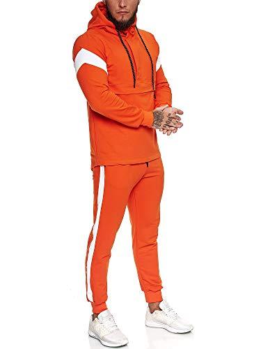 OneRedox   Herren Trainingsanzug   Jogginganzug   Sportanzug   Jogging Anzug   Hoodie-Sporthose   Jogging-Anzug   Trainings-Anzug   Jogging-Hose   Modell JG-1090 Orange L