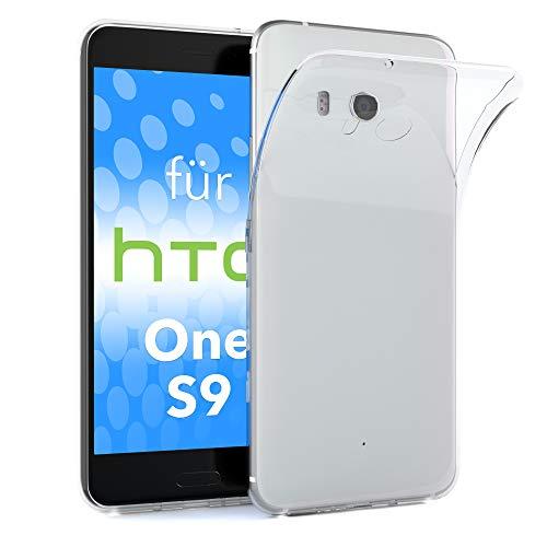 EAZY CASE HTC One S9 Schutzhülle Silikon, Ultra dünn, Slimcover, Handyhülle, Silikonhülle, Backcover, Durchsichtig, Klar Transparent