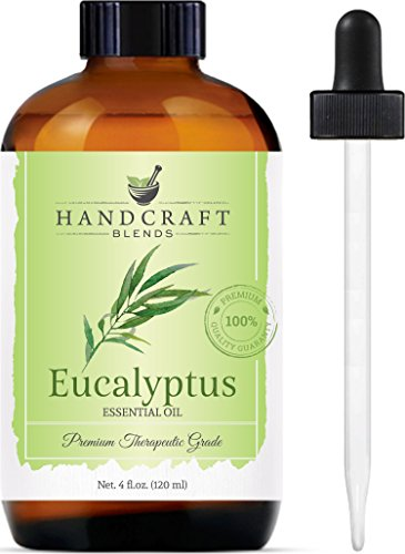 Handcraft Eucalyptus Essential Oil - 100% Pure and Natural - Premium Therapeutic Grade with Premium Glass Dropper - Huge 4 oz