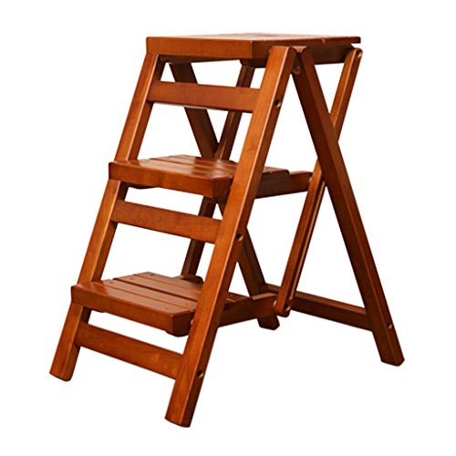 Stepstools Ladders Step Stool Kitchen Folding Stair Stool Multifunctional Footrest Outdoor Flower Pot Plant Stand Indoor Ladder Decorative Display Stand Home Three-Step Creative Ladder