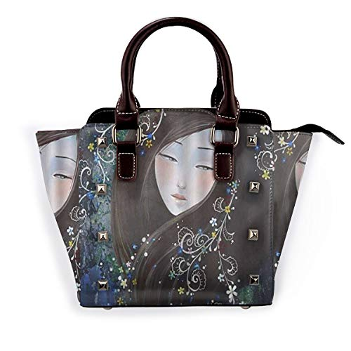 BROWCIN Japan Geisha Anime Girl Design Abnehmbare mode trend damen handtasche umhängetasche umhängetasche
