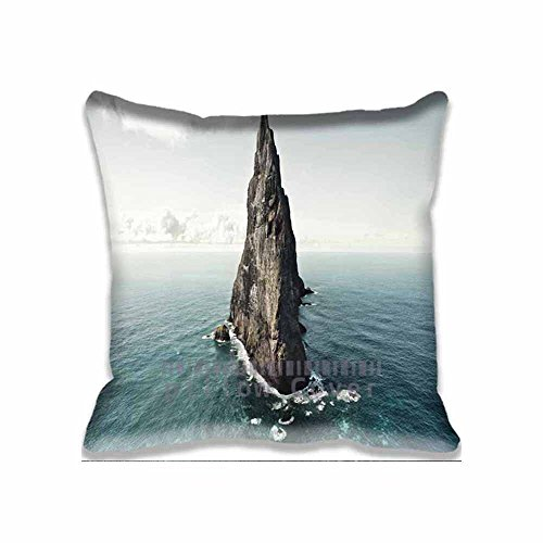 Home Decorative Throw Pillow Covers Cotton Polyester Square Pillow Cases Nature Cliff on Sea Couch Cushion Covers 18x18inch
