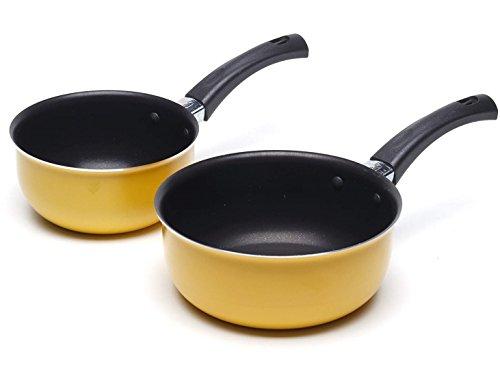 Juego de cacerolas pequeñas antiadherentes para cocinar sopa de leche – 12 y 14 cm Set de iniciación