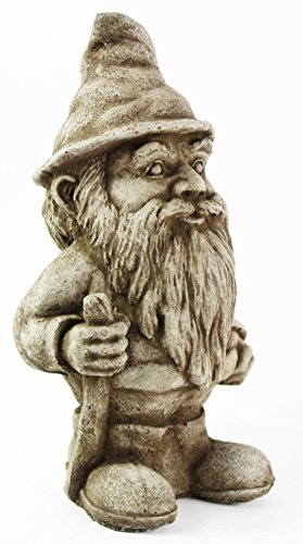 Hiking Gnome Statue Home and Garden Statues Concrete Statuary