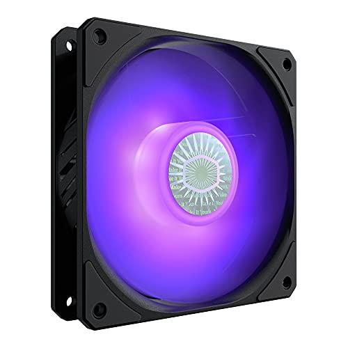 Cooler Master SickleFlow 120 V2 RGB, Compatible con Placa Base RGB, Aspas Translúcidas Air Balance, 62 CFM, 2.5 mmH2O, 8 a 27 dBA, RGB
