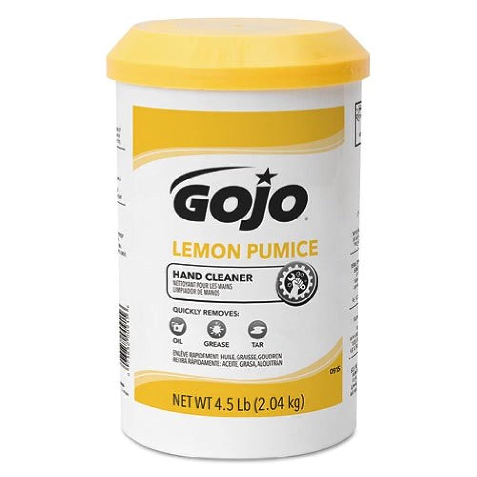 誘惑する台風扱うGojo レモンプーミス ハンドクリーナー レモンの香り 4.5ポンド GOJ0915
