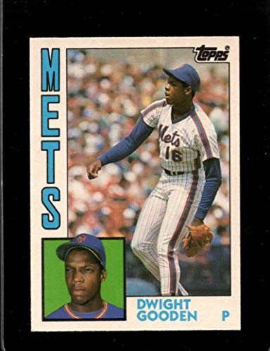 1984 Topps Traded and Rookies Baseball #42T Dwight Gooden RC Rookie New York Mets MLB Trading Card pulled from Factory Set Break