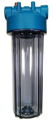 """10""""filtro de agua vivienda, 3/4"""" BSP Latón puertos con PRV, cuenco de tamaño estándar (transparente)"""