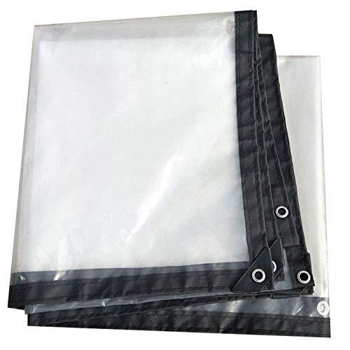 SAC d'épaule Envuelto Perforado Transparente Impermeable Lona Impermeable al Aire Libre a Prueba de Lluvia Lona de toldos para Coches y Camiones,4x4m