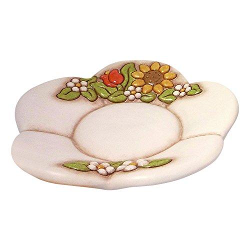 THUN Arredo Casa Portapane Country, Ceramica, Multicolore, 23 x 23 cm