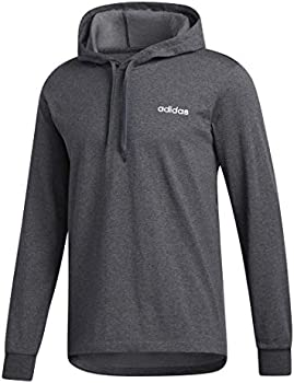 2-Pack Adidas Men's Over-the-Head Pullover Hoodie (Dark Gray Heather/White)