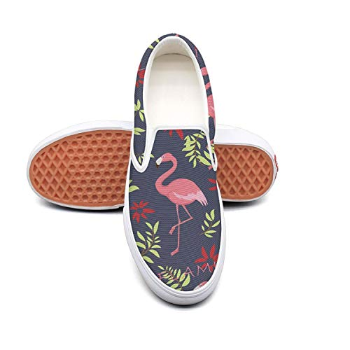 LOKIJM Men Pink Flamingo Clipart Gym Shoes for Mens Slip on Breathable Air Running Shoes