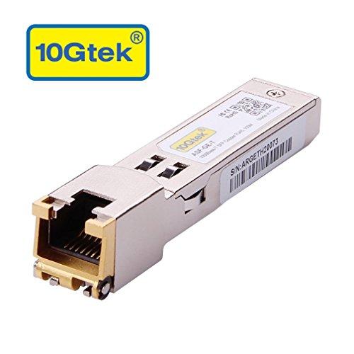 10Gtek® für Ubiquiti Gigabit SFP RJ45 UF-RJ45-1G, 1000Base-T SFP Kupfer Transceiver Modul, 100-Meter, MEHRWEG