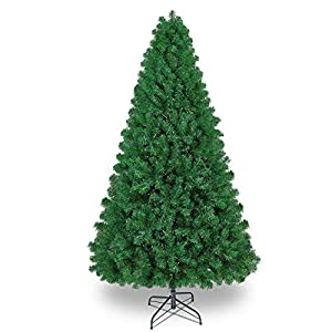 SHareconn 7.5ft UnLit Premium Artificial Spruce Hinged Christmas Tree, Xmas Tree with 1602 Branches and Metal Stand