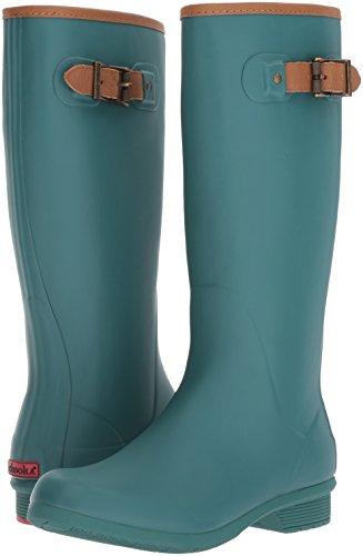 Chooka Women's Tall Memory Foam Rain Boot, Teal, 7 M US