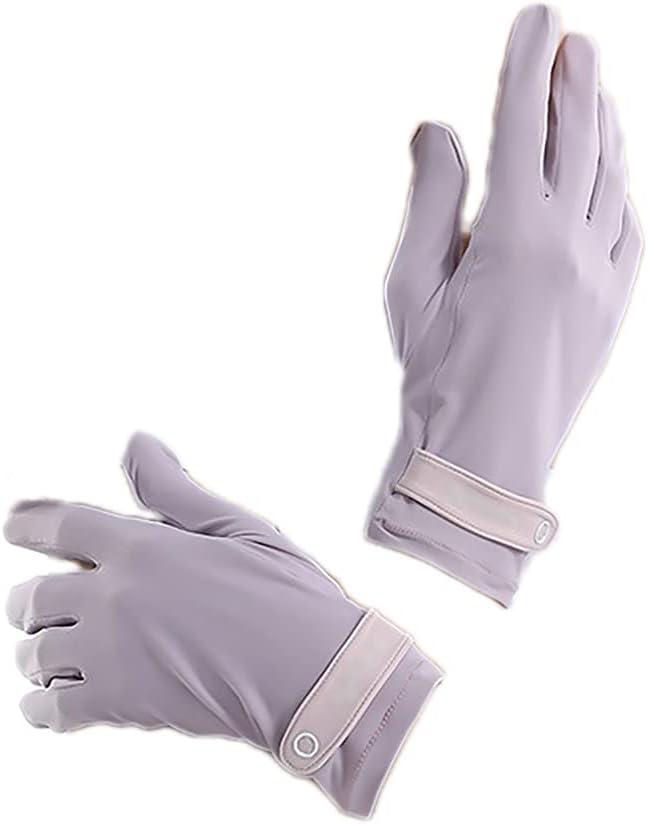 ATHX Women UV Protection Touchscreen Plain Sunscreen Gloves