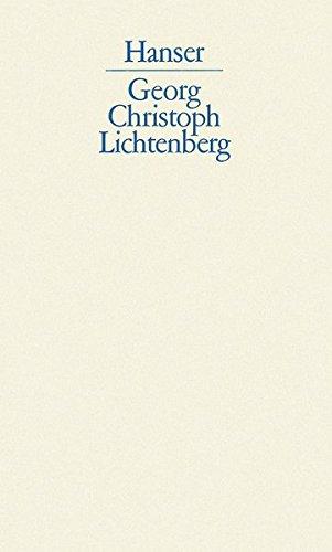 Schriften und Briefe. Bd. 1: Sudelbücher