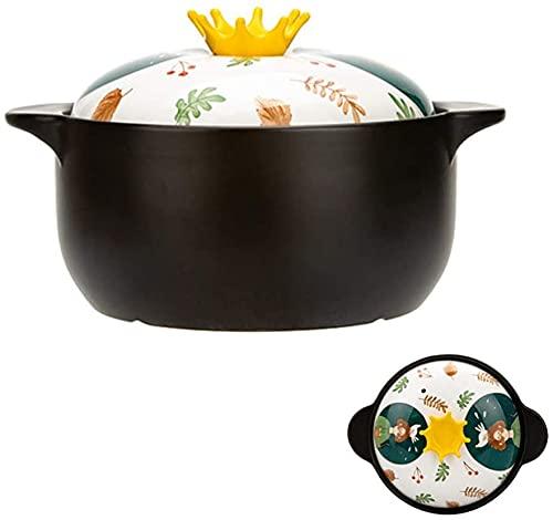 ZHEYANG Cazuelas de Barro para Horno Ollas de Barro para cocinar, Cazuela, Cacerola para el hogar, Olla de Cocina para Estufa de Gas Estufa de cerámica eléctrica Lavaplatos Horno de microondas, Olla
