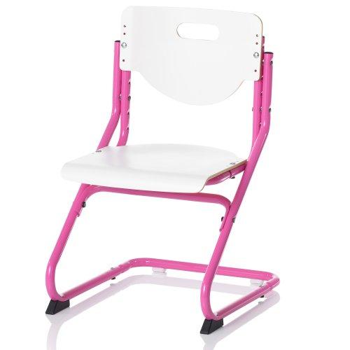 Kettler Chair Plus White Schreibtischstuhl Kinder – hochwertiger Kinderschreibtischstuhl MADE IN GERMANY – ergonomisch & höhenverstellbar – Freischwinger, der mitwächst – weiß & pink