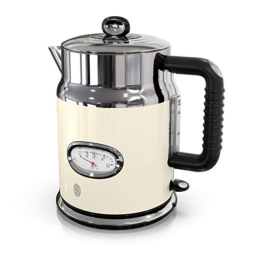 Russell Hobbs KE5550CRR Retro Style 1.7L Electric Kettle, Cream