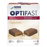 OPTIFAST Barritas Cappuccino. Estuche de 6 barritas de 65g cada una, sustitutivas de la comida para control de peso