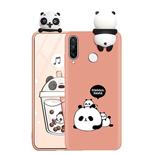 ZhuoFan Funda para Samsung Galaxy A20 / A30, Cárcasa Silicona 3D Muñecas con Dibujos Colores Diseño Suave Gel TPU Antigolpes de Protector Case Fundas Movil para Samsung Galaxy A30, Panda 1