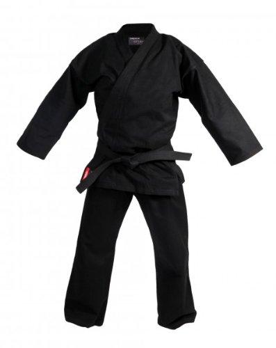 DEPICE Karate-Anzug Kage 12 oz schwarz Baumwolle traditionell 180 cm