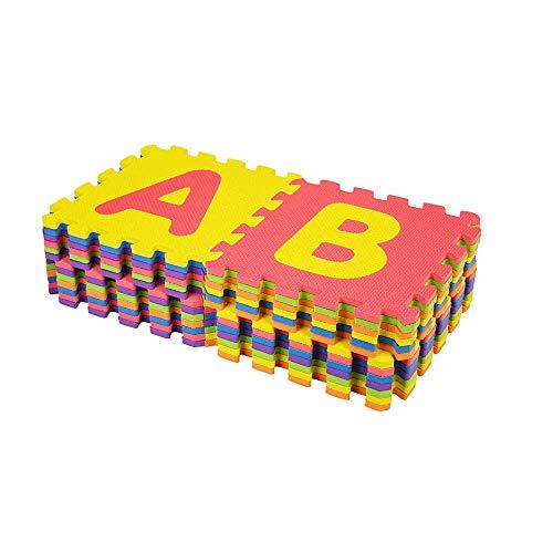 azorex Alfombra Puzzle para Niños Colchoneta Infantil Protectora de Suelo Gimnasio Habitación Goma Espuma Sauve 30x30 cm (26 Pcs)
