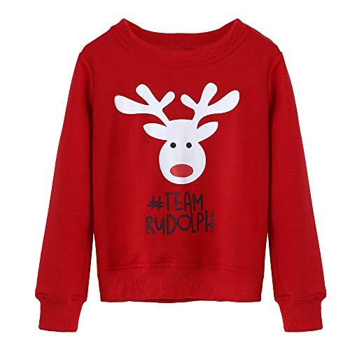 Sudaderas Familiares Navideñas Jersey Suéter Sudadera Navidad Familia Año Nuevo Jerséis Reno Parejas Cuello Redondo Ancha Larga Invierno Abrigo Deportiva Fannyfuny