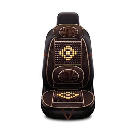 OMVOVSO Autositz Holzkugel, Sitzauflage Stuhl Massage Rückenstütze Lordosenstütze Mesh Lüften Kissen Pad Für Haus Und Auto Stück,1