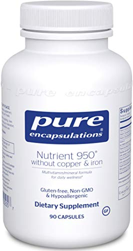 Pure Encapsulations - Nutrient 950 Without Copper & Iron - Hypoallergenic Multi-Vitamin/Mineral Formula for Optimal Health - 90 Capsules