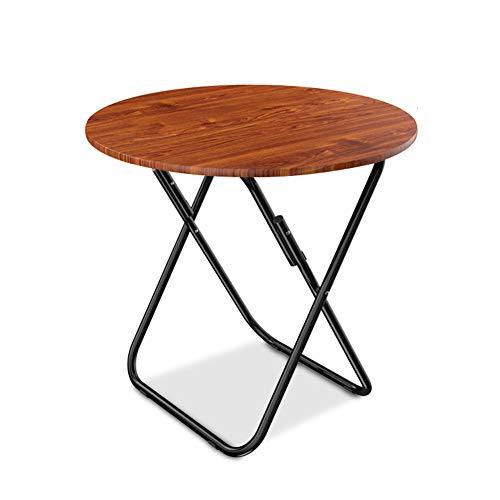 LJT klaptafel, 60 x 70 cm, zware klaptafel, teak-eiken, voor bedrijven, kantoor, picknick, tuin, strand, camping bruin