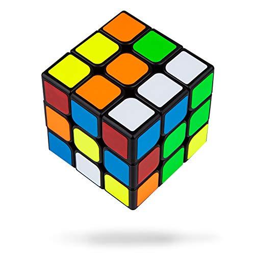 Speed Cube, 3x3x3 Magic Cube Puzzles avec Autocollant et Support en Triangle, Rotation en Douceur - Jouet Puzzle Solide et Durable pour Enfants Adulte