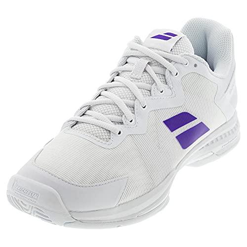 Babolat Unisex Tennis Shoes, White Purple, 9 US Men