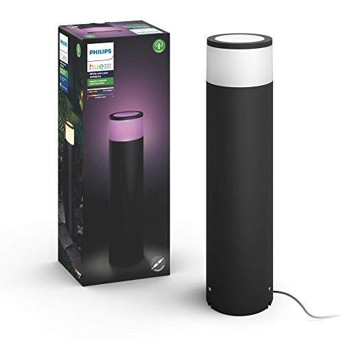 Philips Hue Calla Pedestal o sobremuro LED inteligente (bajo voltaje) negro, luz blanca y de colores, compatible con Amazon Alexa, Apple HomeKit y Google Assistant