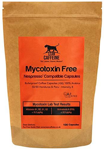 Lean Caffeine Bulletproof Coffee Pods / Bulletproof Coffee Capsules (100)   Mycotoxin Free Coffee   Biodegradable Nesspresso Coffee Capsules / Eco Nespresso Coffee Capsules   Compostable Coffee Pods