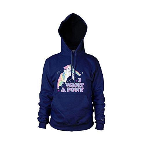 MLP - I Want A Pony Hoodie (Bleu Marine), Large