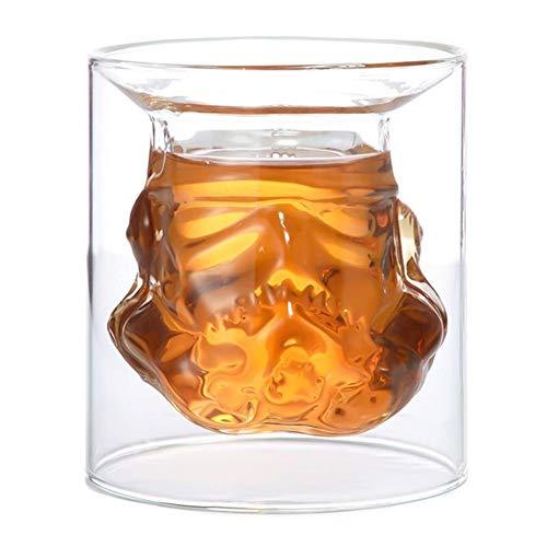 Romantic Night 99 Beer Mugs 150 ml Design 3D Star Wars Stormtrooper Beer Wine Wine Whiskey Glass Cup Bottle Crystal Shot Double Layer Coffee Tea Cup ### 2415