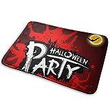 LZMM Fiesta de Halloween Fondo Rojo Sangre-Interior Al Aire Libre Entrada de Bienvenida Alfombra Alfombrillas Raspador de Zapatos Antideslizante 15.7x23.5 Pulgadas