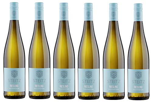 6x 0,75l - 2018er - Weingut Steitz - Riesling - Vulkangestein - Rheinhessen - Deutschland - Weißwein trocken