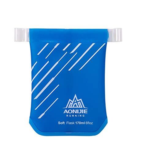 Bolsa/vaso plegables para agua de AONIJIE, 170/200ml, sin BPA, Blue-170ML