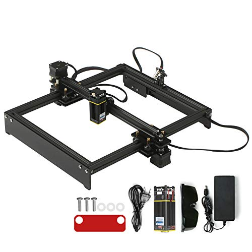 KKmoon Máquina de Grabado Láser de 40W- Grabador Láser de Bricolaje Cortador de Marca de Logotipo Láser Área de Trabajo 280 * 230 mm