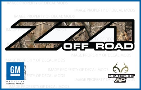 Decal Mods Realtree AP Z71 Off Road Decals Stickers fits Chevy Silverado - AP (2001-2006) Bed Side 1500 2500 HD (Set of 2)