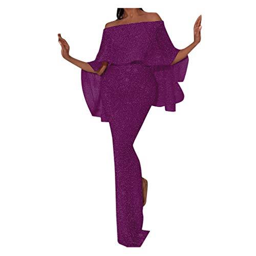 Eaylis Damen Kleid Mode Sexy Rock Reizvolle eine Schulter, Figurbetontes Kleid Dünnes Elegantes Party-Kleid Frauen Dress