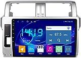 AEBDF Android 9.1 Navegación estéreo de automóvil para Toyota Prado 2014-2017,9 PULGO Sat Nav Pantalla TOUCHA TOUCHO Bluetooth Player Multimedia Bluetooth con Enlace de Espejo,4Core WiFi 2+32G