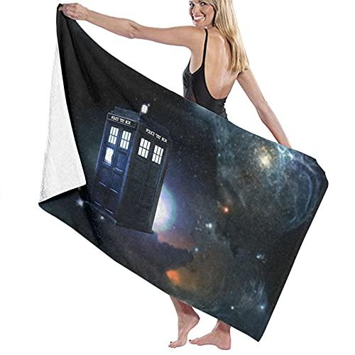 Doctor Who The Doctor Tardis Time Travel Toallas de playa Ultra Absorbentes Toalla de baño de microfibra Picnic Mat para hombres mujeres niños