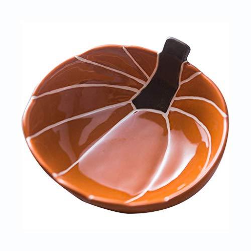 CP0206 Tazón creativo Personalidad Calabaza Cuenco Hogar Cerámica Lindo Bebé Comida Bowl Niños Vajilla Fruta Ensalada Cuenco Tazón de desayuno (Color: Naranja, Tamaño: 15 cm (6 pulgadas)) Suave