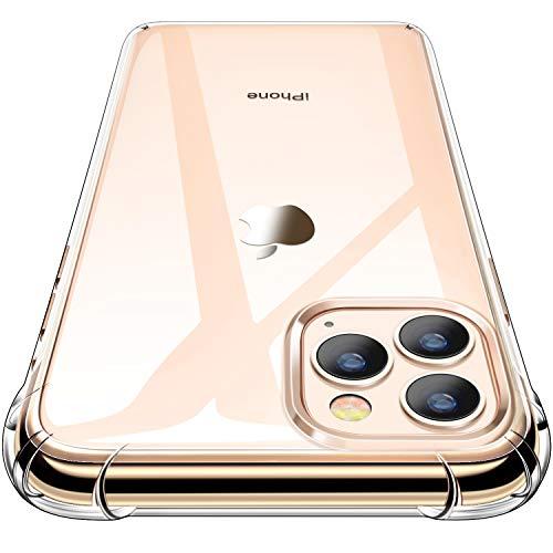 CANSHN iPhone 11 Pro Max Hülle, Hochwertig Transparent Weiche Durchsichtig Dünn Handyhülle mit TPU Stoßfest Fallschutz Bumper Hülle Cover für Apple iPhone 11 Pro Max 6.5'' - Clear