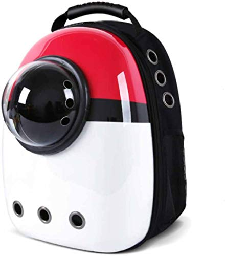 KUYT Mochila Portátil para Mascotas, Mochila De Transporte para Mascotas Aprobada por La Aerolínea Múltiples Salidas De Aire Mochila Impermeable para Viajeros con Burbujas para Mascotas