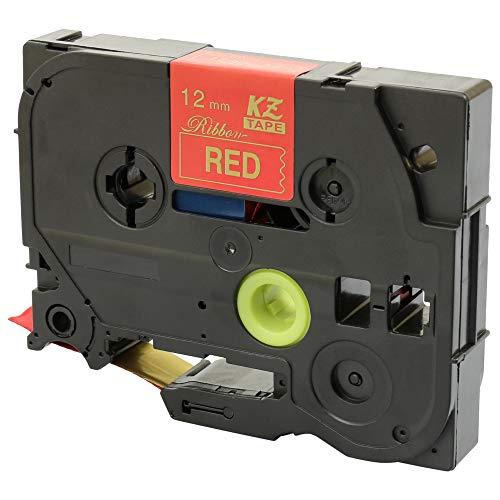 compatibili per Brother P-Touch PT-1000 D200 D210 D400 D600 E100 E550 H100 H200 P700 P750W 4 Nastri in Tessuto 12mm x 4m TZe-R234 TZe-RW34 TZe-RN34 TZe-RE34 Oro su Bianco /& Rosso /& Blu Navy /& Rosa